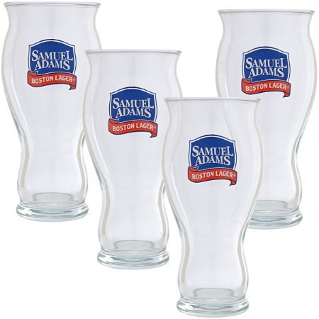 Samuel Adams Sensory Perfect Pint | Set of 4 (Sam Adams Beer Glass Set compare prices)