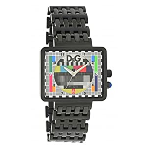 Dolce & Gabbana DW0754 - Reloj analógico de cuarzo para hombre, correa de acero inoxidable color negro