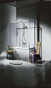 DUSAR Badewannenaufsatz »Mit Tropfendekor« beidseitig montierbar, 0, alufarben   Kundenbewertung und Beschreibung