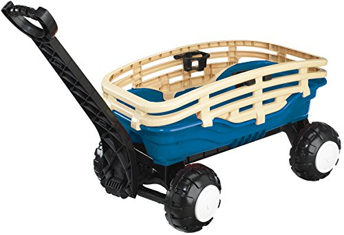 American-Plastic-Toy-Deluxe-Runabout-Stake-Wagon