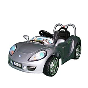 Kids Ride On Car Aston Martin Style Electric Battery Powered with MP3 Input Speaker Remote Control Silver