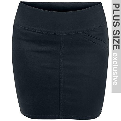 Black Premium by EMP Fitted Skirt Gonna nero XL