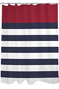 Amazon Bentin Home Decor Nautical Stripes Shower