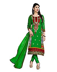 Clothing Deal Women's Faux Georgette Dress Material (Green)