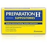 Preparation H Hemorrhoidal Suppositories (24 Suppositories)