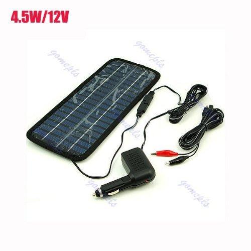 Koolertron 4.5-Watt 12V Car Battery Charger Solar Power Panel