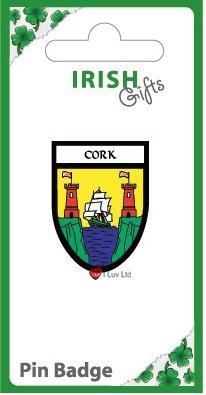Irish County Crest Pin Badge Cork
