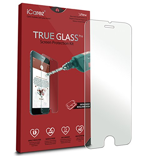 iCarez [Tempered Glass] Screen Protector for Apple iPhone 6 Plus /6s Plus (1-Pack 9H 0.33MM 2.5D) Anti Scratch Easy Install with Lifetime Replacement Warranty (Iphone 6 With Warranty compare prices)