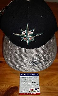 Ken Griffey Jr signed auto Seattle Mariners baseball autographed cap - PSA/DNA Certified - Autographed MLB Helmets and Hats at Amazon.com