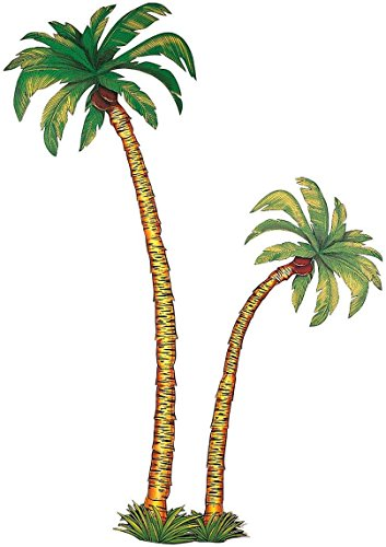 Décors de 2 palmier en carton - 1.16m et 1.80 m