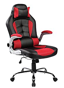 Merax High Back Ergonomic Pu Leather Office Chair Racing Style Sw