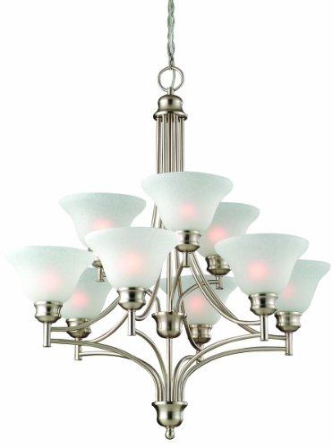Design House 517136 Bristol 9-Light Chandelier, 32.5-Inch By 29-Inch, Satin Nickel front-1030914