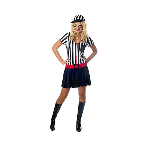 Sexy Flirty Referee Halloween Costume with Hat for Adult Women Size Medium 8-10
