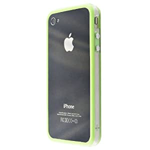 Leegoal(TM)White and Green Premium Bumper Case for Apple iPhone 4 - AT&T