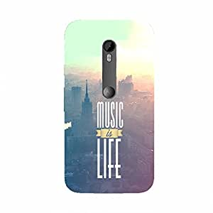 Back cover for Moto G Turbo Music is Life