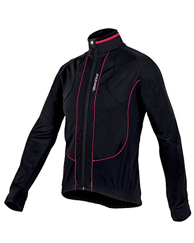 Santini Fashion - Chaqueta, talla XL, color negro / rojo