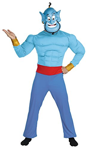 Disguise Mens Disney Genie Muscle Chest Theme Party Fancy Dress Costume