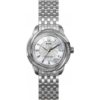 Bulova 96R153 Ladies PRECISIONIST Diamonds Silver Watch