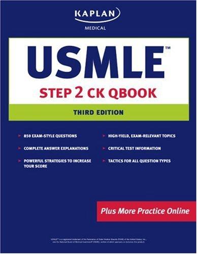 USMLE Step 2 CK Qbook (Kaplan USMLE Qbook)
