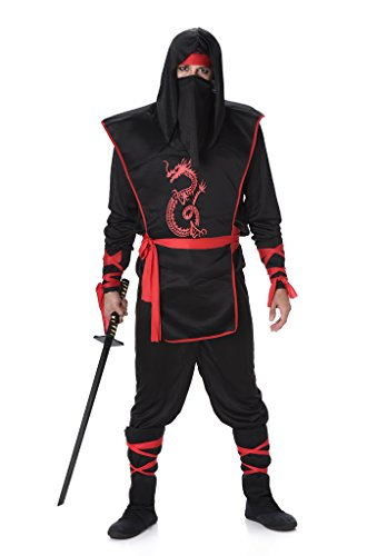 [Men's Ninja - Halloween Costume (XL)] (1980s Movie Character Costumes)