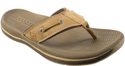 Sperry Top-Sider Mens Santa Cruz Thong Sandal in Tan Size 9