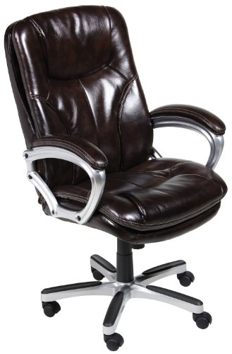 Serta 43502 Faux Leather Big & Tall Executive Chair, Brown front-373695