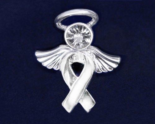 Silver Ribbon Pin- Angel Tac (36 Pins)