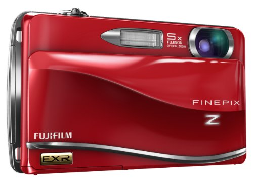 Fujifilm FinePix Z800EXR 12 MP Digital Camera with 5x Periscopic Optical Zoom and 3.5Inch TouchScreen LCD (Red)