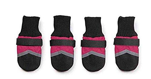 Nuovo Bello Portare-resistenza Impermeabile All Weather Tprotettivo Stivaletti Animale domestico Cane Scarpe (Colore rosa, verde, blu) (M, Rosa)