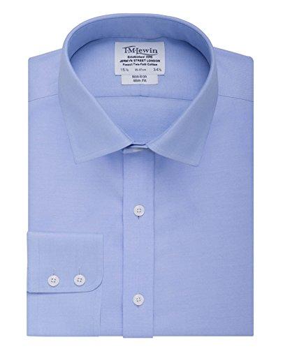 tmlewin-mens-non-iron-twill-slim-fit-button-cuff-shirt-blue-155