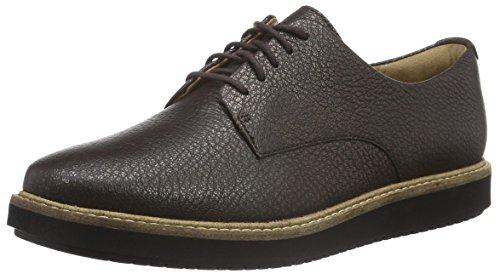 clarks-glick-darby-womens-derby-brown-dark-brown-metallic-leather-55-uk-39-eu