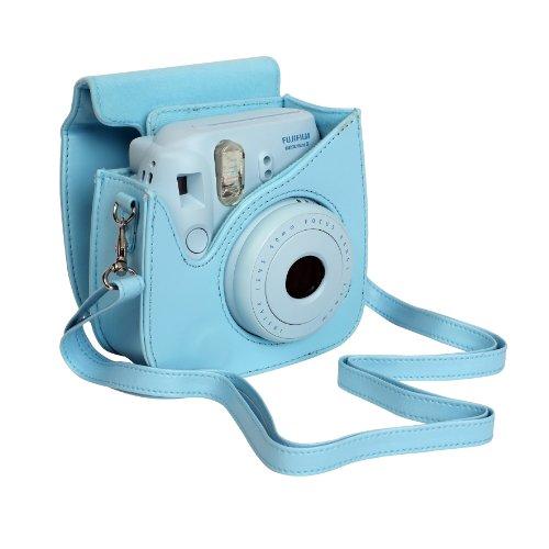 fujifilm housse pour appareil photo pour instax mini 8 bleu avis boutique. Black Bedroom Furniture Sets. Home Design Ideas