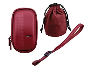 Sony Semi-soft Carrying Case for NEX-5 NEX-5N NEX-3 NEX-C3 | LCM-EMA R Red