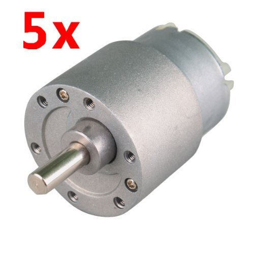 Riorand 5Pcs 30Rpm Mini Gear Box Electric Motor 12V Dc 37Mm High Torque