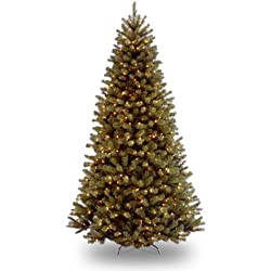 National Tree 7-1/2-Foot Prelit Artificial North Valley Spruce Tree, 550 Clear Lights