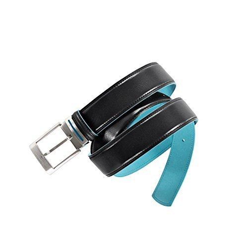 Piquadro Cintura con fibbia ad ardiglione Blue Square CU1523B2 (Nero)