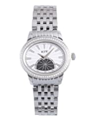 RSW Women's 6140.BS.S0.2.D1 Consort Oval White Sunray Dial Sapphire Crystal Sub-second Diamond Watch