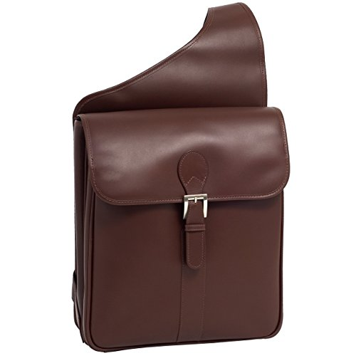 Siamod-Sabotino-Leather-Sling-156-Laptop-Bag-Cognac