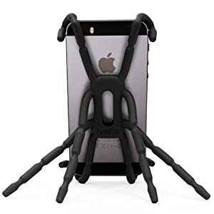 Flexible Universal Phone Car Holder Mount and Stand For iPhone 4S, 5 and Andriod Phones - Spiderpodium by Breffo (Black)