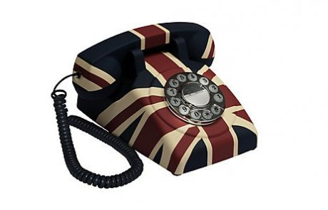 GPO Vintage British Union Jack Art Deco Rotary Dial Button Telephone Reviews