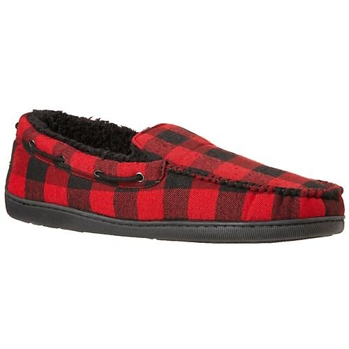 Cheap Weatherproof Buffalo Check Moccasin Slippers (B009WNY2FA)