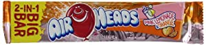 Airheads 2-in-1 Big Bar, Pink Lemonade and Orange, 1.50 Ounce (Pack of 24)