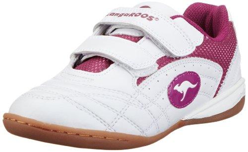 KangaROOS Backyard 10704, Scarpe sportive indoor unisex bambino, Bianco (Weiß (wht/fuchsia 63)), 36