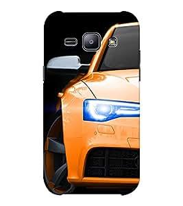 EPICCASE Orange Car Mobile Back Case Cover For Samsung J1 Ace (Designer Case)