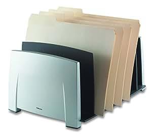 Fellowes Office Suite Document File Sorter includes 7 Sorter Slots - Black/Grey Ref 8031801