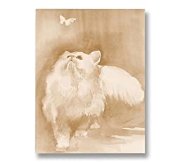 Neron Art - Hand painted Animal Oil Painting on Rolled Canvas for Living Room Wall Decor - Play 36X48 inch