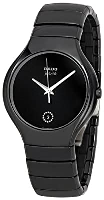 Rado Men's R27653722 True Jubile Analog Display Swiss Quartz Black Watch