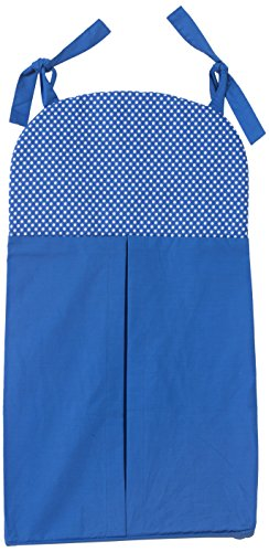 One Grace Place Simplicity Blue Diaper Stacker, Blue and White