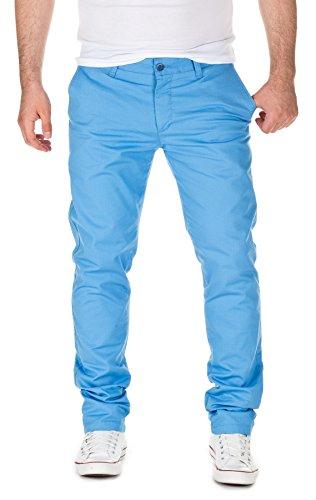 WOTEGA Uomo Chino Pantaloni eleganti slim, silver lake blue (4030), W38/L34