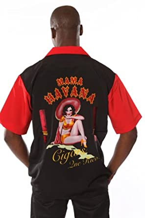 Rock House Retro Cigar Shirt Mama Havana Shirt Button Front Size: Medium